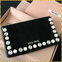 MiuMiu MADRAS Leather Pouches & Cosmetic Bags