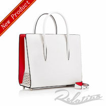 Christian Louboutin Paloma Suede Studded 3WAY Plain Elegant Style Handbags