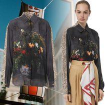 Burberry Flower Patterns Silk Long Sleeves Other Animal Patterns