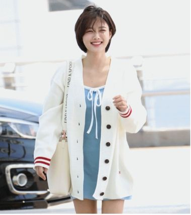 Casual Style Unisex Street Style Long Sleeves Medium Gowns