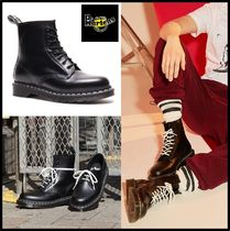 Dr Martens Casual Style Unisex Street Style Leather Mid Heel Boots
