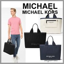 Michael Kors Canvas A4 2WAY Bi-color Plain Totes