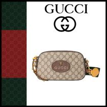 GUCCI GG Supreme Casual Style Shoulder Bags