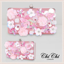Chi Chi London Flower Patterns 2WAY Plain Party Style With Jewels