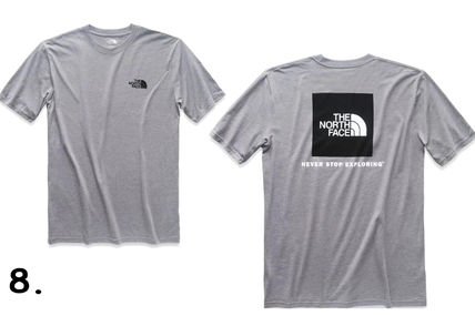 THE NORTH FACE Crew Neck Crew Neck Camouflage Street Style Cotton Short Sleeves 18