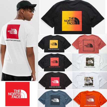 THE NORTH FACE Crew Neck Crew Neck Camouflage Street Style Cotton Short Sleeves
