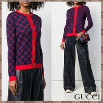 GUCCI Long Sleeves Cotton Medium Elegant Style