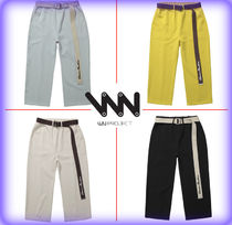 WV PROJECT Unisex Street Style Cotton Cropped Pants