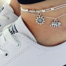 Casual Style Unisex Animal Chain Anklets