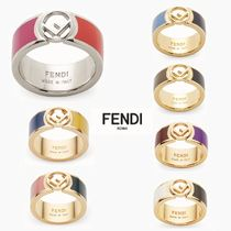 FENDI Initial Brass Rings