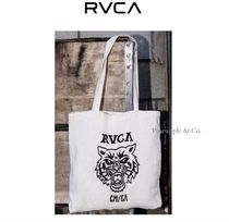 RVCA Unisex Street Style Plain Totes