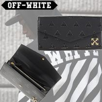 Off-White Unisex Leather Long Wallets