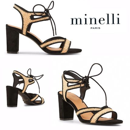 Open Toe Casual Style Block Heels Heeled Sandals