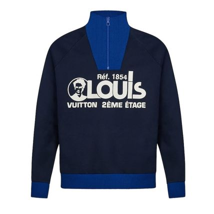 Louis Vuitton Sweatshirts Pullovers Unisex Blended Fabrics Street Style Bi-color 2