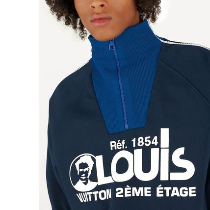 Louis Vuitton Sweatshirts Pullovers Unisex Blended Fabrics Street Style Bi-color 6