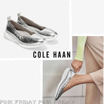 Cole Haan ZEROGRAND Platform Plain Toe Casual Style Plain Lace-Up Shoes