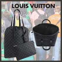 Louis Vuitton MONOGRAM Monogram Canvas Blended Fabrics Street Style A4 2WAY Totes
