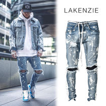 LAKENZIE Denim Street Style Skinny Fit Pants