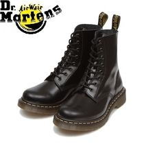 Dr Martens Casual Style Unisex Leather Flat Boots
