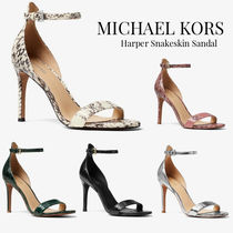 Michael Kors Open Toe Spawn Skin Plain Pin Heels Party Style