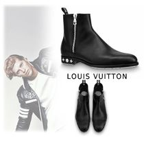 Louis Vuitton 2019-20AW CALF LEATHER ANKLE BOOTS black  5.5-9.5 boots