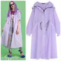 ELF SACK Casual Style Street Style Plain Long Outerwear