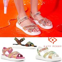 Katy Perry Open Toe Platform Casual Style Blended Fabrics Sport Sandals