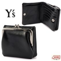 Yohji Yamamoto Unisex Plain Leather Coin Cases