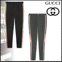 GUCCI Stripes Street Style Cotton Skinny Fit Pants