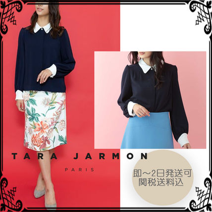 Medium Office Style Puff Sleeves Shirts & Blouses