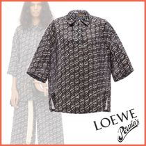 LOEWE Casual Style Linen Short Sleeves Shirts & Blouses