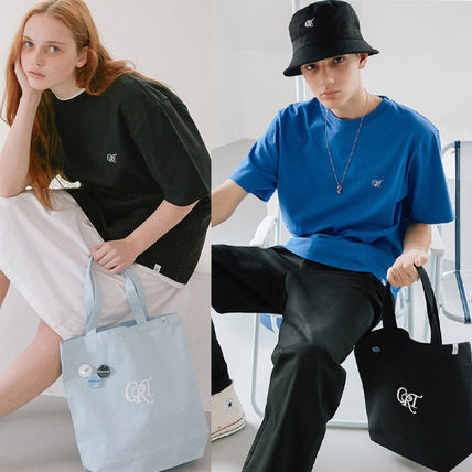 Casual Style Unisex Street Style A4 Plain Totes