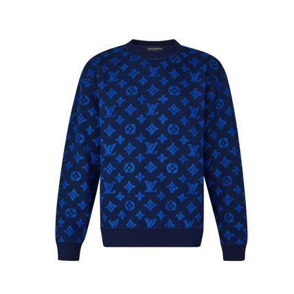 Louis Vuitton Knits & Sweaters Crew Neck Pullovers Monogram Blended Fabrics Street Style 2