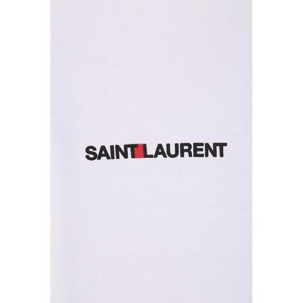 Saint Laurent Crew Neck Crew Neck Plain Crew Neck T-Shirts 5