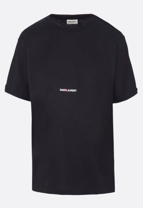 Saint Laurent Crew Neck Crew Neck Plain Crew Neck T-Shirts 12