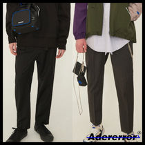 ADERERROR Unisex Wool Plain Cropped Pants