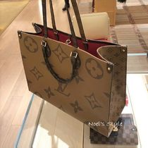 Louis Vuitton MONOGRAM ONTHEGO 2WAY BIG TOTE brown free tote