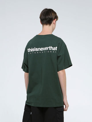 thisisneverthat Crew Neck Crew Neck Unisex Street Style Plain Cotton Short Sleeves 2