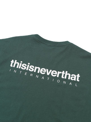 thisisneverthat Crew Neck Crew Neck Unisex Street Style Plain Cotton Short Sleeves 4