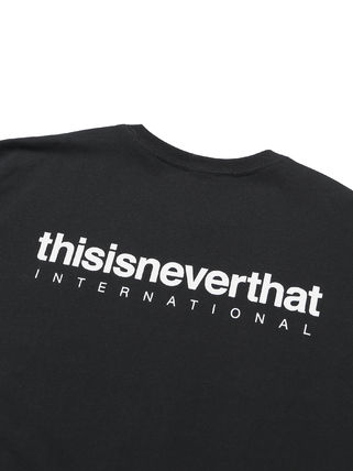 thisisneverthat Crew Neck Crew Neck Unisex Street Style Plain Cotton Short Sleeves 8