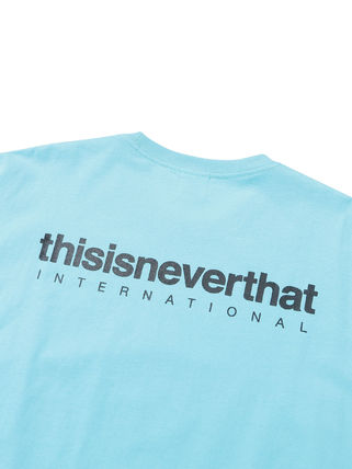thisisneverthat Crew Neck Crew Neck Unisex Street Style Plain Cotton Short Sleeves 13