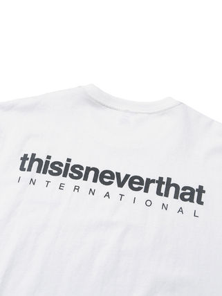 thisisneverthat Crew Neck Crew Neck Unisex Street Style Plain Cotton Short Sleeves 18