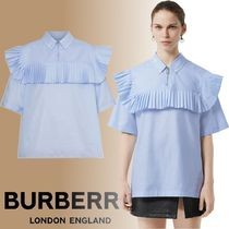 Burberry Cotton Short Sleeves Elegant Style Shirts & Blouses