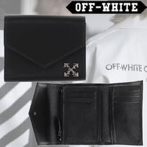 Off-White Unisex Nylon Folding Wallets