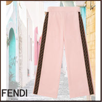 FENDI Blended Fabrics Kids Girl  Bottoms