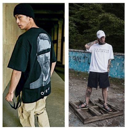 OVERR More T-Shirts Unisex Street Style Cotton Short Sleeves Oversized T-Shirts