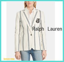 Ralph Lauren Stripes Medium Elegant Style Jackets