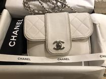 CHANEL MATELASSE Lambskin Chain Elegant Style Party Bags