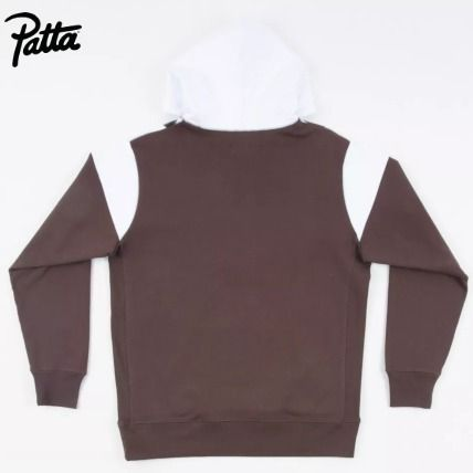 Pullovers Street Style Bi-color Long Sleeves Cotton