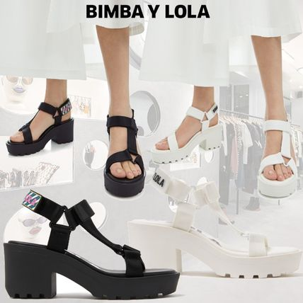 Open Toe Casual Style Chunky Heels Heeled Sandals